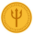 fork digital coin vector image vector image