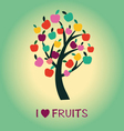 fruit tree Apple Tree symbol vector image vector image