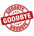 goodbye red grunge round vintage rubber stamp vector image vector image