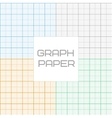 graph millimeter paper seamless pattern set vector image