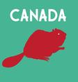 Graphic symbol beaver a color country Canada vector image