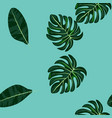 green tropical leaves seamless pattern vector image vector image
