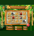 jungle animal game template vector image vector image