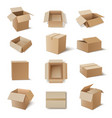 kraft cardboard boxes for storage products vector image