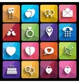 love icons set in flat style vector image vector image