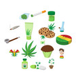 medical marijuana icons vector image vector image
