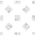 modern kitchen pattern seamless vector image vector image