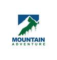 mountain logo design in square vector image