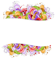 Multi colored flowers frame vector image