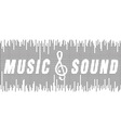 music and sound vector image vector image