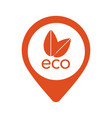 nature eco orange pointer icon in eps 10 vector image vector image