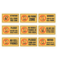 no cell phone sign mobile phone prohibited vector image vector image