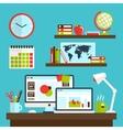 Office workstation design vector image vector image