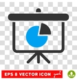 Pie Chart Demonstration Eps Icon vector image vector image