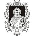 Portrait of Napoleon Bonaparte vector image vector image