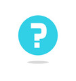 question mark icon on blue round circle vector image vector image