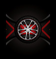 realistic racing car wheel vector image