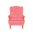 retro comfortable pink armchair cushioned vector image vector image