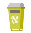 rubbish bin for paper waste vector image