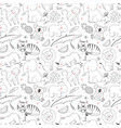 safari animals pattern vector image