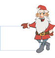 Santa Claus with an empty blank cartoon vector image vector image