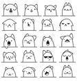 Set of 20 different emotions cat Anime doodle vector image vector image