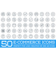 Set of E-Commerce Icons Shopping and Online can be vector image vector image