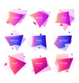set of geometric banner abstract geometric shapes vector image