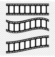 Set realistic filmstrips on blank background