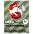 smoking color isometric poster vector image