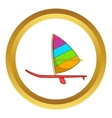 Sport boat with a sail icon vector image vector image