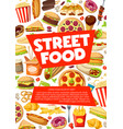 street food fastfood snacks and meals vector image vector image