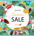 summer sale banner summer vector image vector image