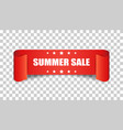 summer sale ribbon icon discount sticker label on vector image