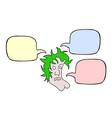 talk cartoon vector image