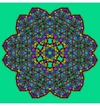 Unusual mandala art - chakra symbol ocer green vector image vector image