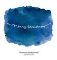 Watercolor background for merry Christmas and hand vector image