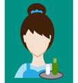 Profession people waitress Face male uniform vector image
