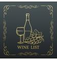 Decorative gold Banner Wine design vector image