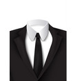 realistic black suit object vector image