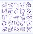 hand drawn arrows set vector image
