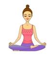 meditating girl vector image