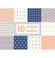 Set of ten seamless patterns vector image