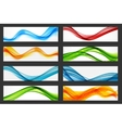 Abstract Colored Wave Header Background Set vector image