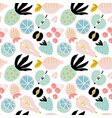 abstract seamless pattern with fruits and berries vector image vector image