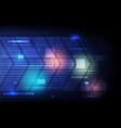 abstract technology blue background hi-tech arrow vector image vector image