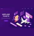 airline flight booking service advertisement vector image