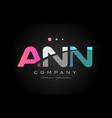 ann a n n three letter logo icon design vector image vector image
