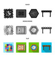 board game black flat monochrome icons in set vector image vector image