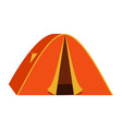 bright orange tourist tent icon isolated on white vector image